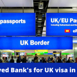 Updated list of Bank's for UK visa applications in India